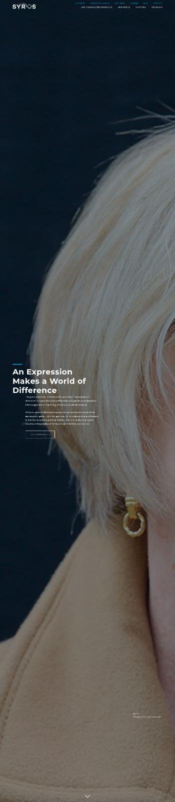 Syros Pharmaceuticals, Inc. Website Screenshot