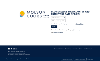 Molson Coors Beverage Company Website Screenshot