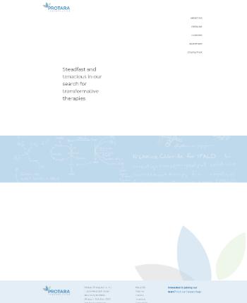 Protara Therapeutics, Inc. Website Screenshot