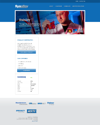 Synalloy Corporation Website Screenshot