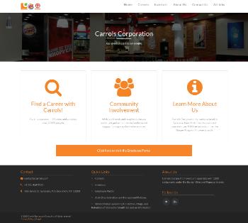 Carrols Restaurant Group, Inc. Website Screenshot