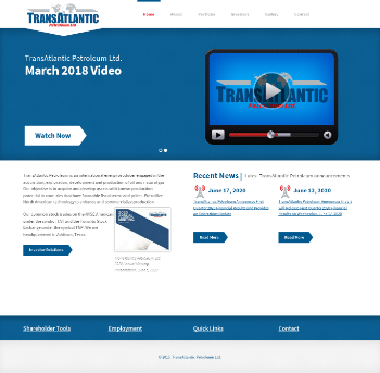 TransAtlantic Petroleum Ltd. Website Screenshot