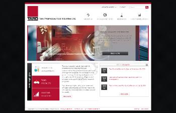 Taro Pharmaceutical Industries Ltd. Website Screenshot