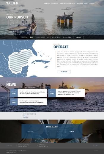 Talos Energy Inc. Website Screenshot