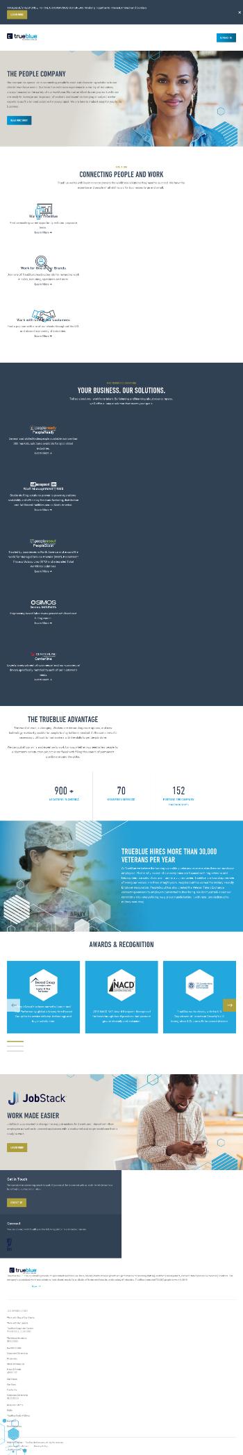 TrueBlue, Inc. Website Screenshot