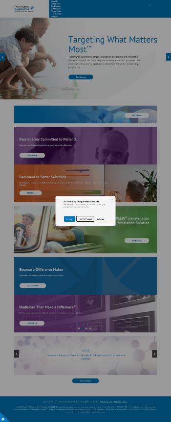 Theravance Biopharma, Inc. Website Screenshot