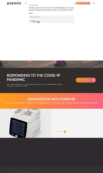 Avanos Medical, Inc. Website Screenshot