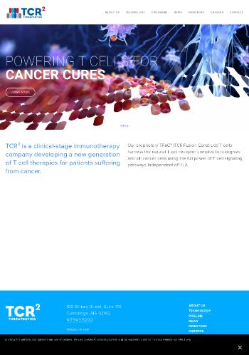 TCR2 Therapeutics Inc. Website Screenshot