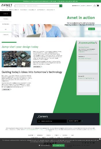 Avnet, Inc. Website Screenshot