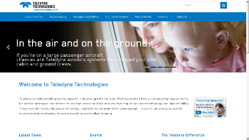 Teledyne Technologies Incorporated Website Screenshot
