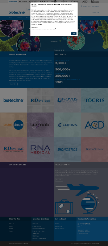 Bio-Techne Corporation Website Screenshot
