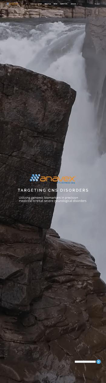 Anavex Life Sciences Corp. Website Screenshot