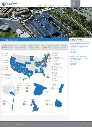 TerraForm Power, Inc. Website Screenshot