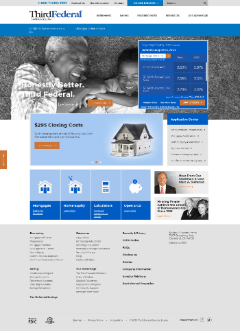 TFS Financial Corporation Website Screenshot