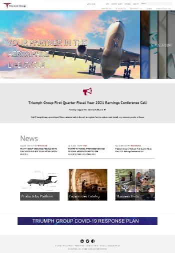 Triumph Group, Inc. Website Screenshot