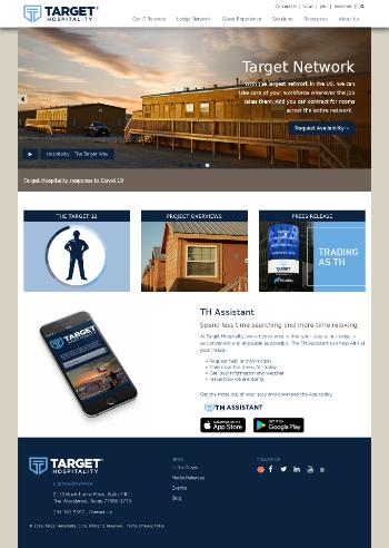 Target Hospitality Corp. Website Screenshot