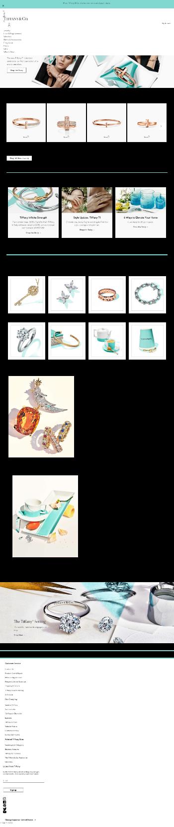 Tiffany & Co. Website Screenshot
