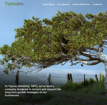 Tiptree Inc. Website Screenshot