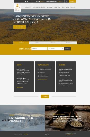 International Tower Hill Mines Ltd. Website Screenshot