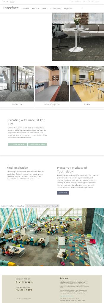 Interface, Inc. Website Screenshot