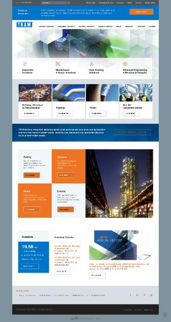 Team, Inc. Website Screenshot