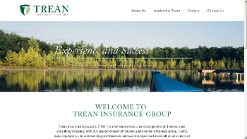 Trean Insurance Group, Inc. Website Screenshot