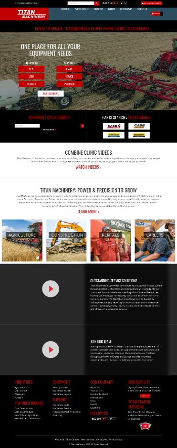 Titan Machinery Inc. Website Screenshot