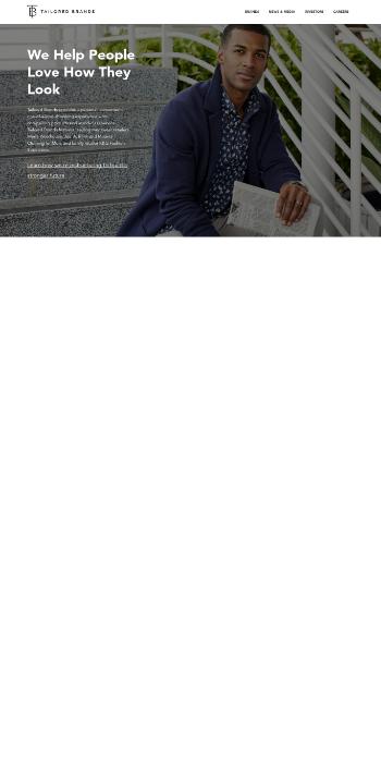 Tailored Brands, Inc. Website Screenshot
