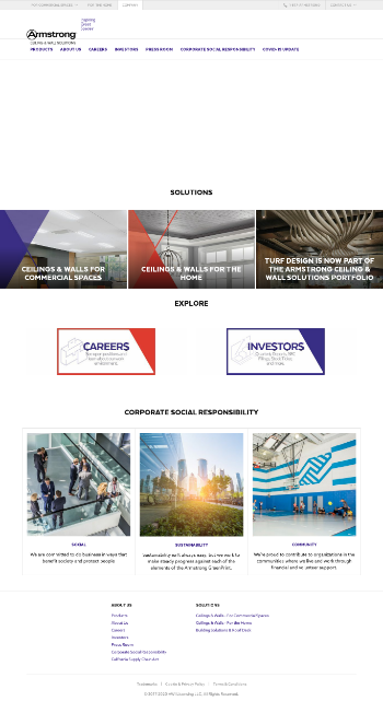 Armstrong World Industries, Inc. Website Screenshot