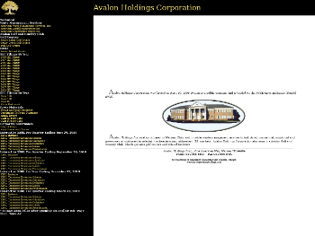 Avalon Holdings Corporation Website Screenshot