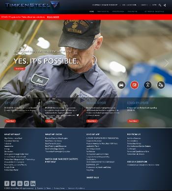TimkenSteel Corporation Website Screenshot