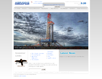 Abraxas Petroleum Corporation Website Screenshot