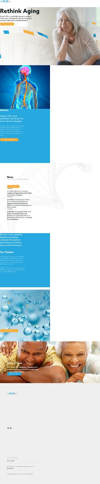 resTORbio, Inc. Website Screenshot