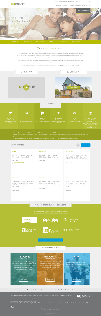TRI Pointe Group, Inc. Website Screenshot