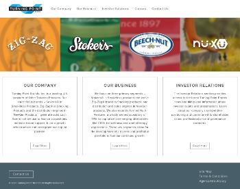 Turning Point Brands, Inc. Website Screenshot