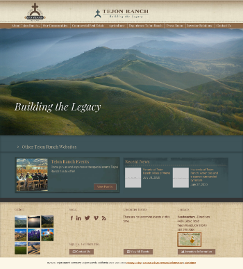Tejon Ranch Co. Website Screenshot