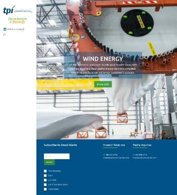 TPI Composites, Inc. Website Screenshot