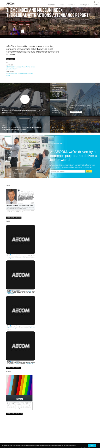 AECOM Website Screenshot