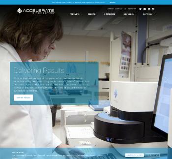 Accelerate Diagnostics, Inc. Website Screenshot