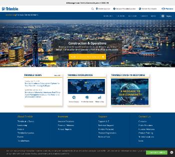 Trimble Inc. Website Screenshot