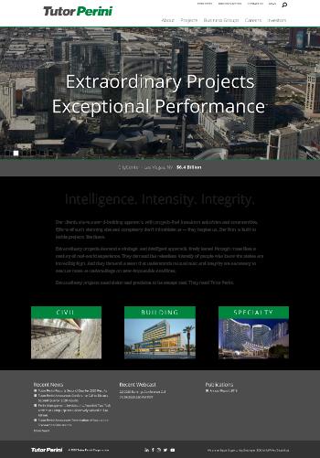 Tutor Perini Corporation Website Screenshot