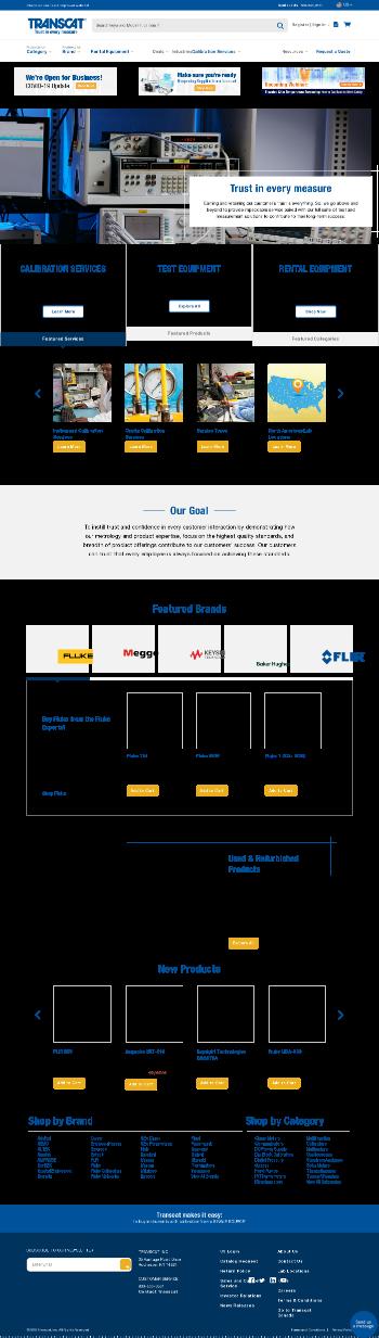 Transcat, Inc. Website Screenshot