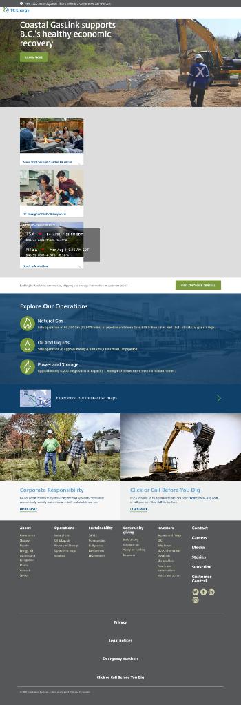 TC Energy Corporation Website Screenshot