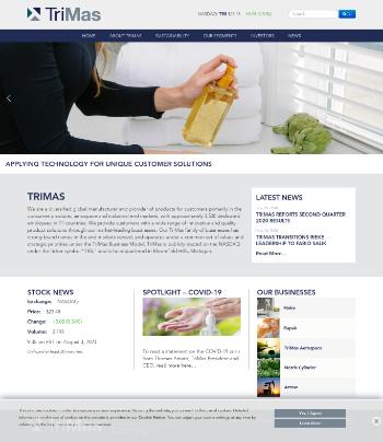 TriMas Corporation Website Screenshot