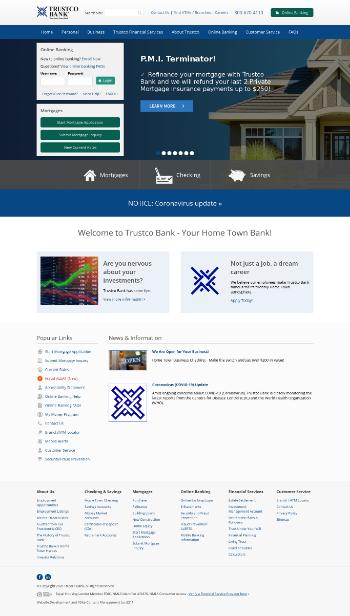 TrustCo Bank Corp NY Website Screenshot