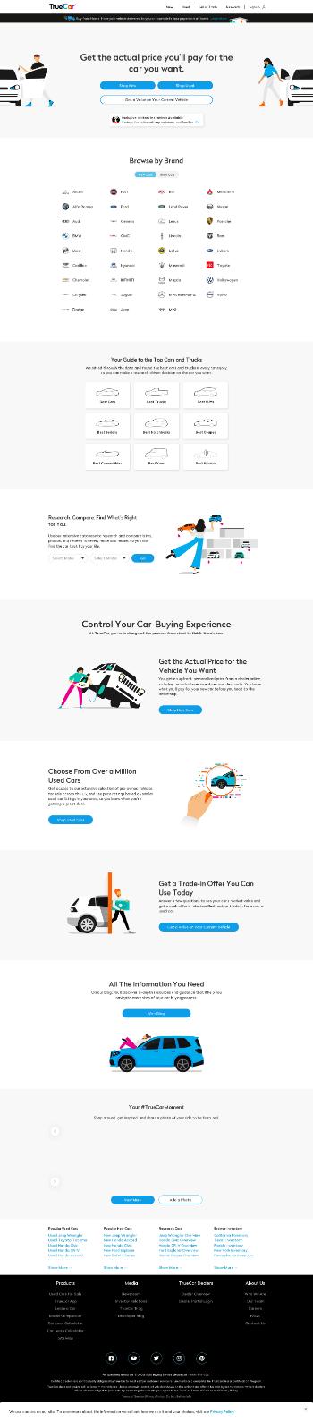 TrueCar, Inc. Website Screenshot