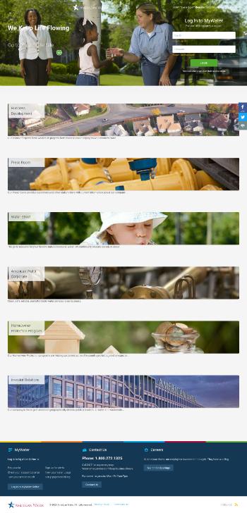 American Water Works Company, Inc. Website Screenshot