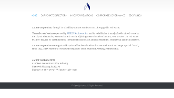 AMREP Corporation Website Screenshot