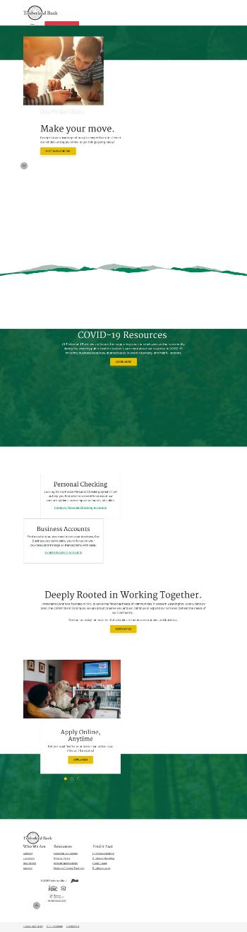 Timberland Bancorp, Inc. Website Screenshot