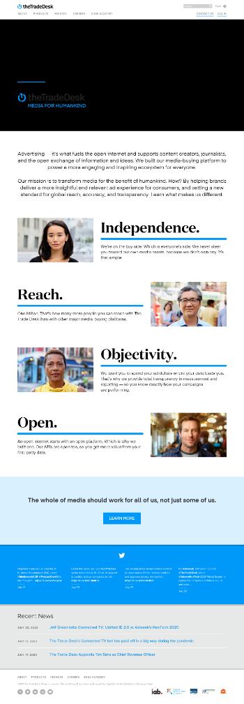 The Trade Desk, Inc. Website Screenshot